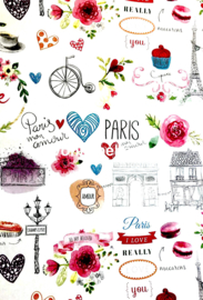 Behangexpresse KidsWalls Behang BE27120 Paris/Romantisch/Love