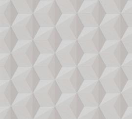 AS Creation New Life Behang 96255-1 Modern/Grafisch/3D/Taupe/Glitter