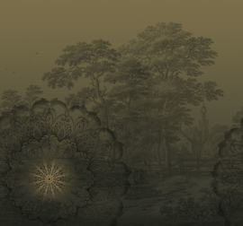 Behangexpresse Circle of Life/Select.D Fotobehang TD4191 Malbec Olive/Mandala/Bomen/Natuur