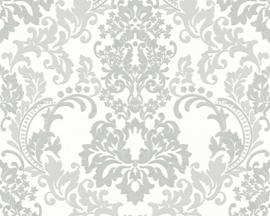 ASCreation Behang 36166-4 Barok/Ornament/Glitter/Grijs