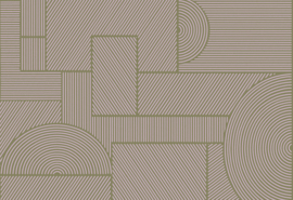 Hookedonwalls Sketch Behang 19540 Swerve/Modern/Grafisch/Lijnen