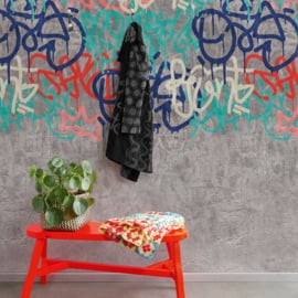 Dutch Wallcoverings One Roll One Motif Behang A35201 Concrete/Beton/Grafitti/Verf/Modern