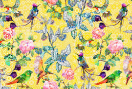 AS Creation Living Walls by Patel Fotobehang DD110202 Exotic Mosaic1/Tegel/Botanisch/Vogels Behang