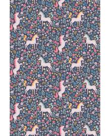 Eijffinger Mini Me Behang 399110 Unicorns/Eenhoorn/Fantasie/Kinderkamer Fotobehang