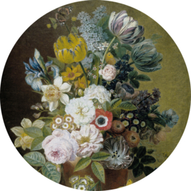 Painted Memories 2 Fotobehang Circle 8045C Still Life with flowers IV/Bloemen/Klassiek Dutch Wallcoverings