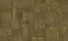 Arte Ligna Behang 42002 Hout/Insecten/Wings/Exclusief Wandtextiel