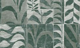 Arte Ligna Behang 42025 Canopy/Metaalfolie/Exclusieve Wandbekleding Botanisch Groen