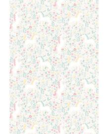 Eijffinger Mini Me Behang 399111 Unicorns Pastel/Eenhoorn/Romantisch/Fantasie/Kinderkamer Fotobehang