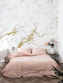 Kek Amsterdam Marble Wit/Goud 8d Fotobehang WP-556 Marmer/Steen/Landscapes & Marble