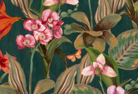 Hookedonwalls Breeze Behang BR24083 Orchidea/Bloemen/Botanisch/Vlinders