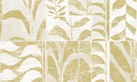 Arte Ligna Behang 42020 Canopy/Metaalfolie/Exclusieve Wandbekleding Botanisch