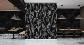 Walls by Patel DD110336 Blackboard 7 Botanisch Fotobehang - ASCreation