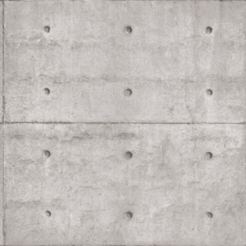 Noordwand Grunge  Behang G45370 Beton/Steen/Industrieel/Stoer/Blokken/Grijs