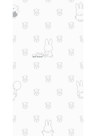 Kek Nijntje WP-508 Miffy Bears Grey Behang - Dutch Wallcoverings/Kek Amsterdam