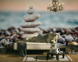 AS Creation Designwalls Fotobehang DD118670 Stone beach 1/Stenen/Keien/Natuur/Travelling