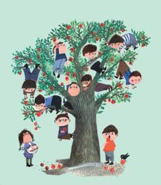Kek Amsterdam Behang WS 030 Apple TreeFotobehang  - Dutch Wallcoverings