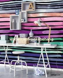 Eijffinger Stripes+  Behang 377216 Strepen/Aquastripes Dark/Fotobehang