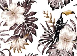 AS Creation Designwalls Fotobehang DD118578 Toucan 2/Tropical/Toekan/Vogels/Bloemen/Bladeren/Botanical