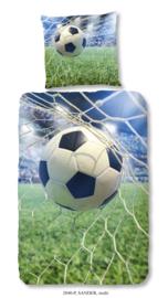 Dekbedovertrek Muller-Textiles 2040 Sander Multi/Voetbal/Net/Doel/Bal/Sport/Kinderkamer 1 persoons