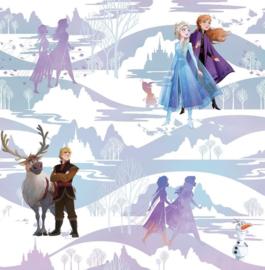 Noordwand Kids@Home Individual Behang 108238 Frozen Scene/Olaf/Anna/Elsa/Christoff/Kinderkamer