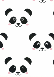 Noordwand Fabulous World Behang 67100  Panda/Beer/Zwart/Wit/Dieren/Kinderkamer