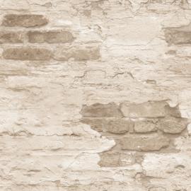 Noordwand Grunge Behang G45355 Baksteen/Steen/Verweerd/Taupe/Landelijk
