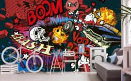 Dimex Fotobehang Car Crash MS-5-0320 Graffiti/Stoer/Modern/Tiener
