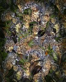 Komar Home Imagine Edition 4 Fotobehang X4-1046 Wild Cats/Wilde Katten/Botanisch/Bladeren/Dieren