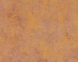 AS Creation New Walls Behang 37425-3 Uni/Structuur/Beton/Oranje/Goud