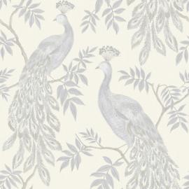 Arthouse Katarina 292102 Lazzaro Grey/Peacock/Pauw/Vogels Behang