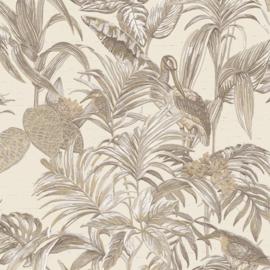 Dutch Wallcoverings Wallstitch Behang DE120012 Vogels/Botanisch/Natuurlijk/Bladeren