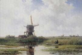 Painted Memories 2 Fotobehang 8044 Dutch Landscape/Natuur/Landschap/Molen Dutch Wallcoverings