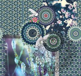 Behangexpresse Circle of Life/Select.D Fotobehang TD4166 Mauro/Mandala/Kraanvogel/Bloemen/Botanisch