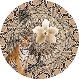 Behangexpresse Circle of Life/Select.D Cirkel TD816 Mahdi/Tijger/Bloemen/Mandala