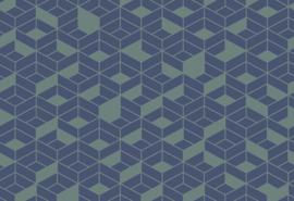 Hookedonwalls Tinted Tiles Behang 29024 Flake/Modern/Grafisch/3D