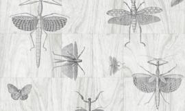 Arte Ligna Behang 42001 Hout/Insecten/Wings/Exclusief Wandtextiel