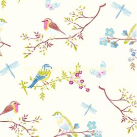 Eijffinger Pip Studio 4 Behang 375080 Romantisch/Bloemen/Vogels