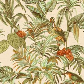 Dutch Wallcoverings Wallstitch Behang DE120013 Vogels/Botanisch/Bladeren