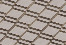 Hookedonwalls Blooming Behang BL22732 Squares/Modern/2 Dimensional