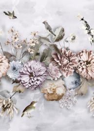 Behangexpresse Floral-Utopia Fotobehang INK7550 Cool Florals/Bloemen/Vogels