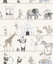 Noordwand Just 4 Kids 2 Behang G56547 Circus/Dieren/Kinderkamer