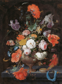 Painted Memories 2 Fotobehang 8035 Still Life With Flowers 2/Bloemen/Stilleven/Klassiek Dutch Wallcoverings