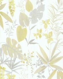 Eijffinger Grenada Behang 367008 Bladeren/Botanisch/Landelijk/Grijs/Offwhite/Grijs