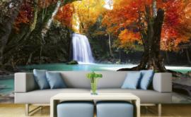 Dimex Fotobehang Deep Forest Waterfall MS-5-0083 Waterval/Natuur/Bomen