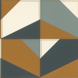 Rasch Club Behang 419252 Leer effect/Vlakken/Modern/Grafisch/Stiksels