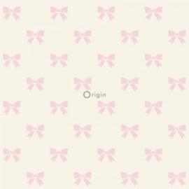 Origin Precious Behang 352-346846 Strikje/Roze/Romantisch/Meisjes/Kinderkamer