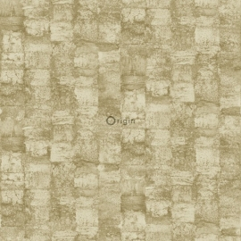 Origin Raw Elegance Behang  343-347364 Klassiek/ Structuur/Groentint