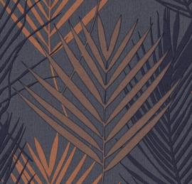 Hookedonwalls Jungle Chic Behang 20705 Botanisch/Bladeren/Natuurlijk/Modern/Koper