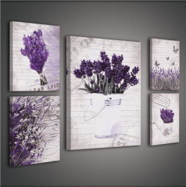 Canvas 1809S14 Lavendel - Dutch Wallcoverings
