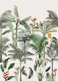 Onszelf Botanique Fotobehang 539172 Palm/Dieren/Tropisch/Apen/Bloemen Rasch Behang